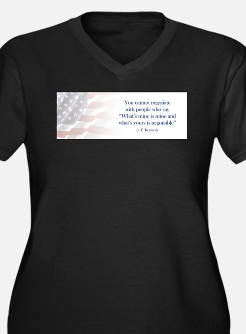 JFK Negotiate Plus Size T-Shirt