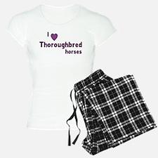 Thoroughbred horses pajamas