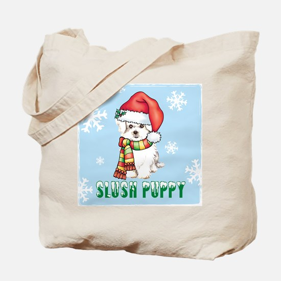 Holiday Maltese Tote Bag