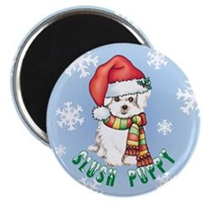 Holiday Maltese Magnet