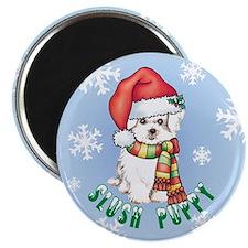 "Holiday Maltese 2.25"" Magnet (10 pack)"