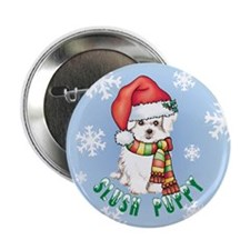 "Holiday Maltese 2.25"" Button"