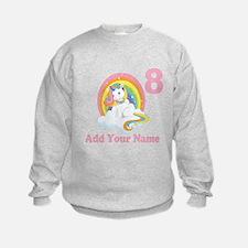 Rainbow Unicorn Birthday Sweatshirt