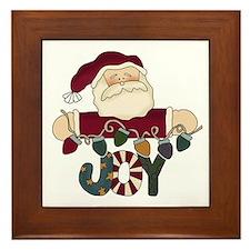 Santa Joy Framed Tile