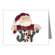 Santa Joy Note Cards (Pk of 10)