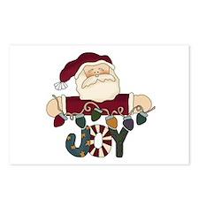 Santa Joy Postcards (Package of 8)