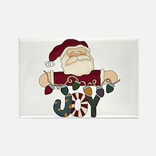 Santa Joy Rectangle Magnet