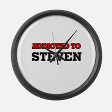 Addicted to Steven Large Wall Clock