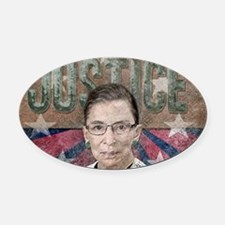 Justice Ginsburg Oval Car Magnet