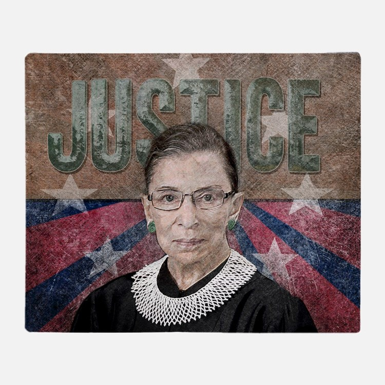 Justice Ginsburg Throw Blanket