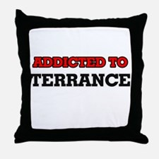 Addicted to Terrance Throw Pillow