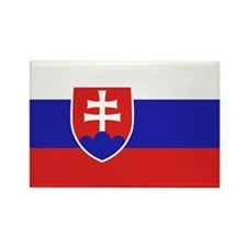 Slovak Flag Rectangle Magnet