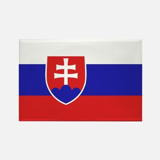 Slovak Flag Rectangle Magnet