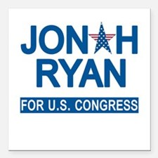 """JONAH RYAN for US CONGRE Square Car Magnet 3"""" x 3"""""""