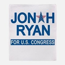 JONAH RYAN for US CONGRESS Throw Blanket