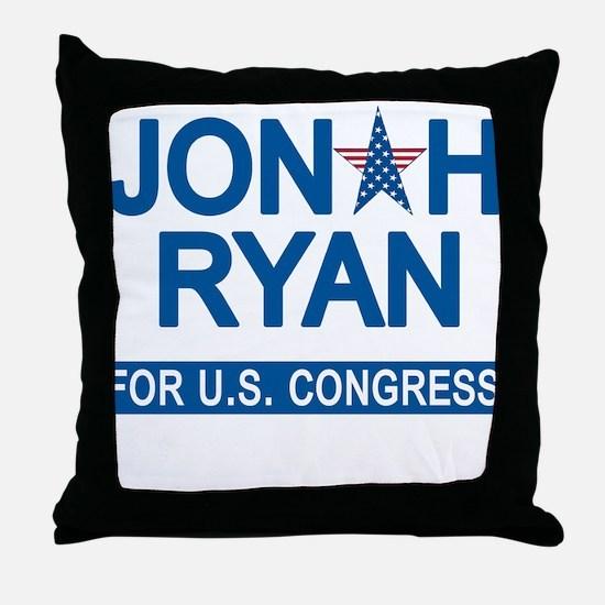 JONAH RYAN for US CONGRESS Throw Pillow