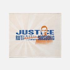 Ruth Badass Ginsburg Throw Blanket