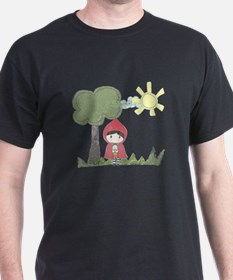 Little Red Riding Hood Drawing T-Shirt