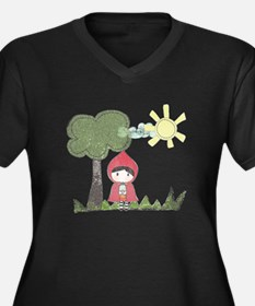 Little Red Riding Hood Drawing Plus Size T-Shirt
