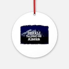 DENALI MOUNTAIN ALASKA BLUE Round Ornament