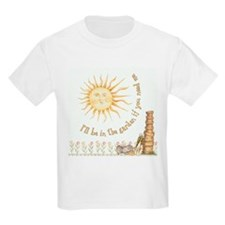 In the Garden by Leah Kids T-Shirt