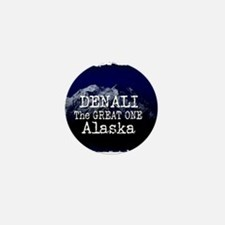 DENALI MOUNTAIN ALASKA BLUE Mini Button (100 pack)
