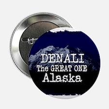 "DENALI MOUNTAIN ALASKA BLUE 2.25"" Button (10 pack)"
