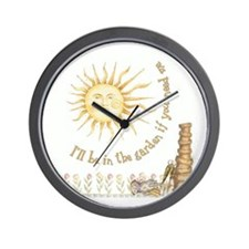 In the Garden by Leah Wall Clock