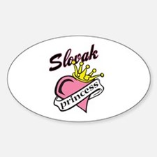 Slovak Princess Oval Decal