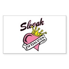 Slovak Princess Rectangle Decal