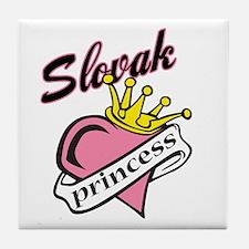 Slovak Princess Tile Coaster
