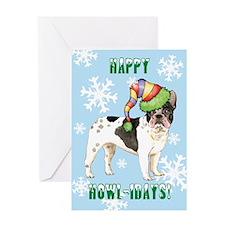 Holiday French Bulldog Greeting Card