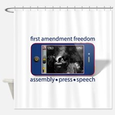1st Amendment Freedoms Shower Curtain