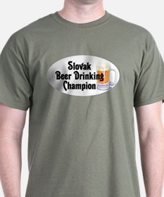 Slovak Beer Drinking Champion T-Shirt
