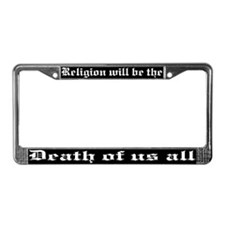 Religion License Plate Frame