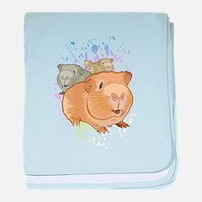 Cute Guinea pig baby blanket