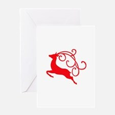 Xmas Reindeer Greeting Cards