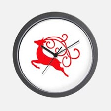 Xmas Reindeer Wall Clock