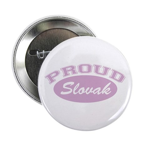 "Proud Slovak (pink) 2.25"" Button (10 pack)"
