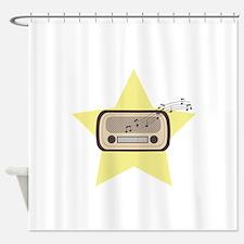Retro Radio Shower Curtain