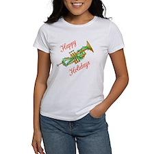 Happy Holidays Trumpet Tee