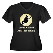 Classic Witch Saying Women's Plus Size V-Neck Dark