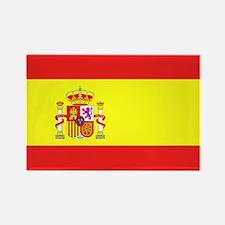Spanish Flag Rectangle Magnet