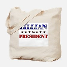 LILLIAN for president Tote Bag