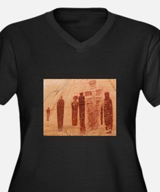 Great Gallery Pictographs Women's Plus Size V-Neck