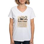 Gunfight at Tombstone Women's V-Neck T-Shirt