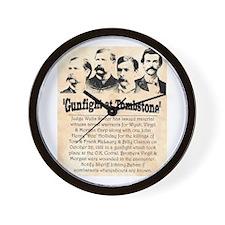 Gunfight at Tombstone Wall Clock