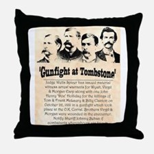 Gunfight at Tombstone Throw Pillow