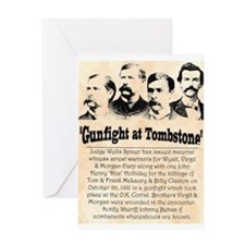 Gunfight at Tombstone Greeting Card