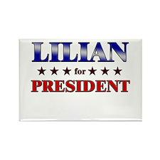 LILIAN for president Rectangle Magnet